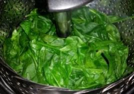 steamed spinach
